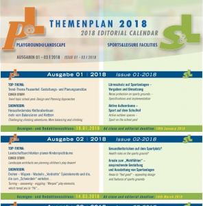 Themenplan Playground@Landscape / Sports & Leisure Facilities 2018